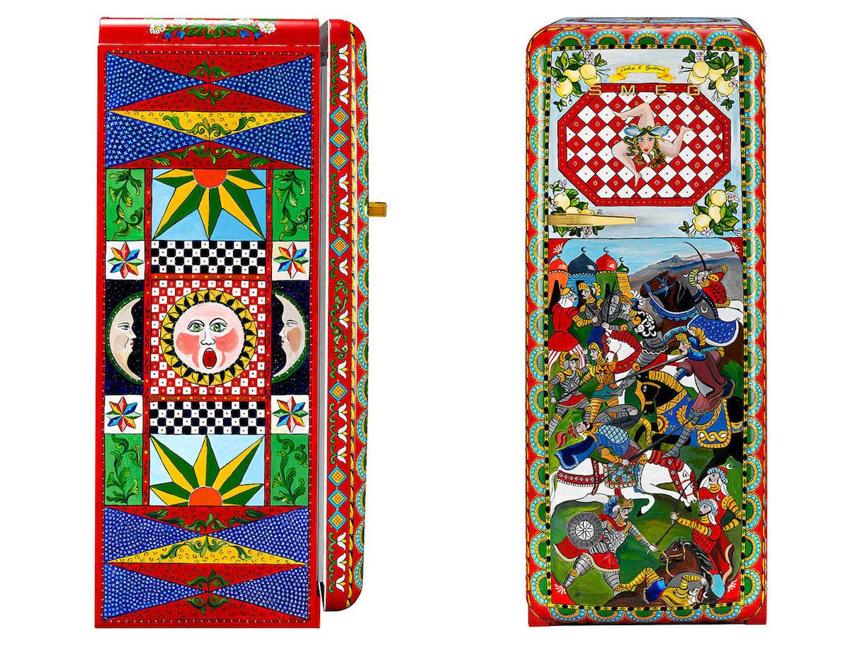 Smeg-hand-painted-refrigerators-by-Dolce-Gabbana