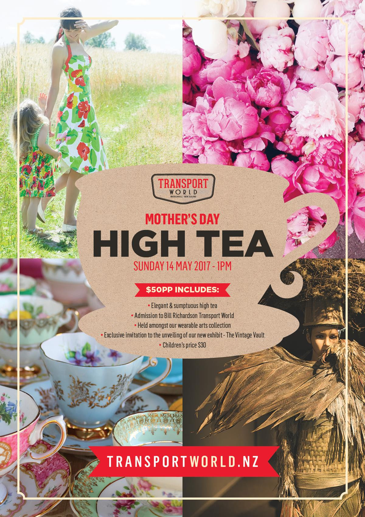 Mothers Day High Tea at Transport World