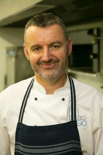 Adrian Walker in the kitchen.