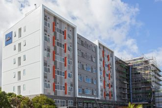 Sebel Auckland Manukau standing mostly developed, but still with some construction to come.
