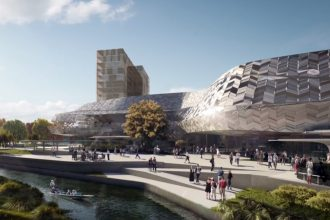 Artist's impression of the Christchurch Convention Centre