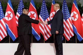 Kim Jong-Un meets Donald Trump