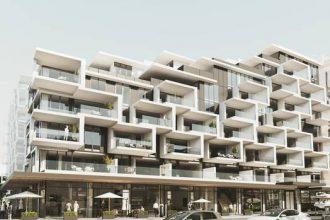 The terraces of the $350 million apartment development,
