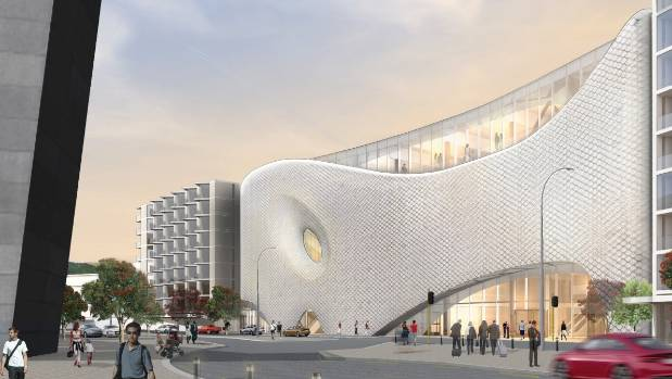 Artist's impression of the Wellington Convention centre