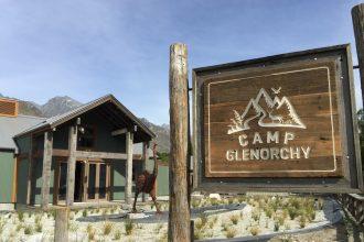 Sign outside Camp Glenorchy.
