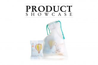 Product Showcase banner with baby packs..