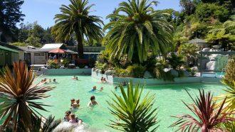 Pool at Taupo DeBretts Spa Resort.