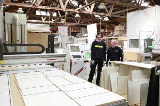 CutShop team in their workshop.