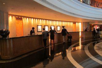 Grand Hyatt Hong Kong reception.