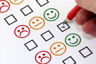 Guest satisfaction rating sheet.