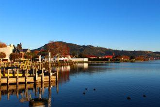 Scenic Rotorua lakefront.