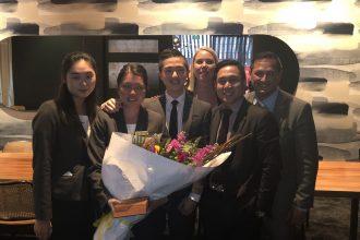 Carmen Leong receives award.