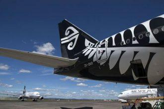 Air New Zealand aircraft rear.
