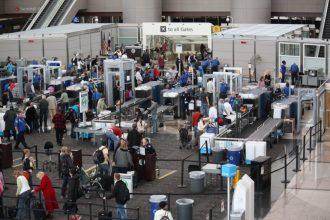 Long lines at TSA caused by government shutdown.