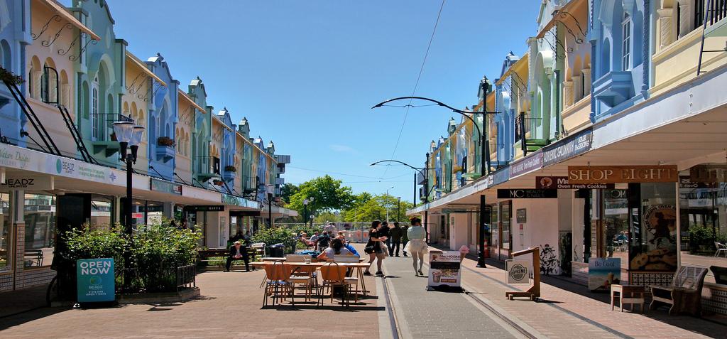 Tourists enjoy Christchurch.