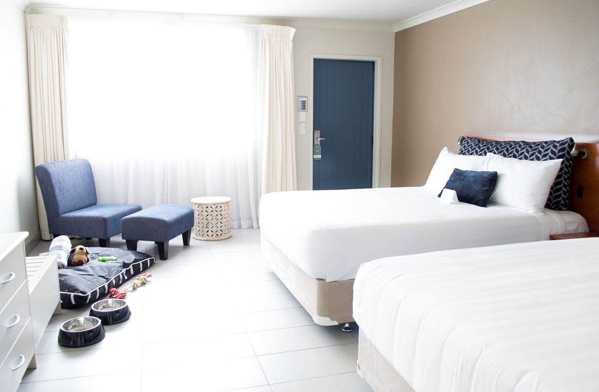 Pet-Stay Room at Jet Park Auckland Airport Hotel.