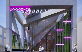 Artist's render of Moxy Melbourne South Yarra.