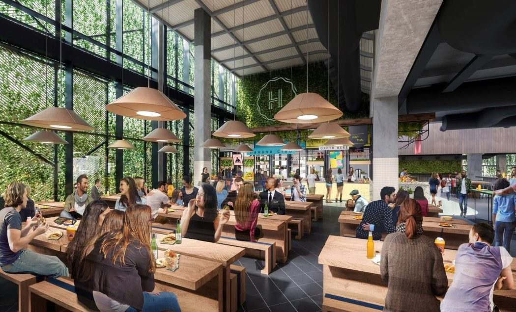 Commercial Bay dining facilities artist's impression.