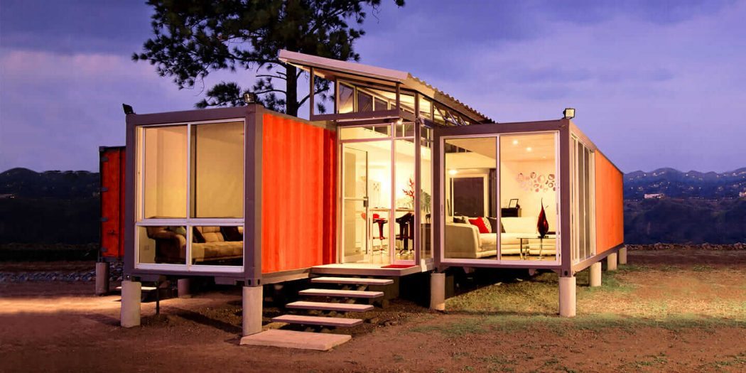 Luxury shipping container.
