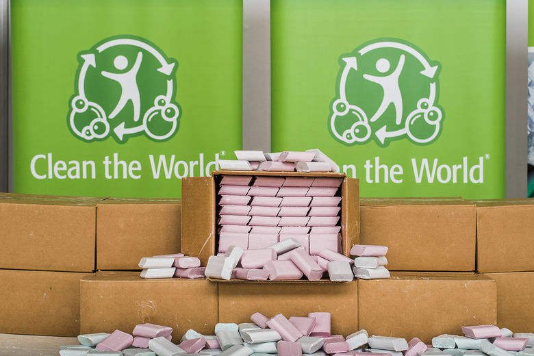Clean the World recycled soap bars.