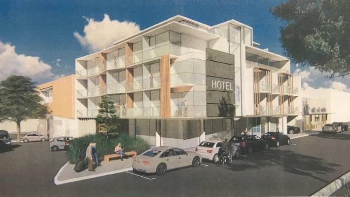 Artist's impression of the Napier Hotel.