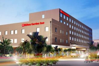 Artist's render of the Hilton Garden Inn Suva.