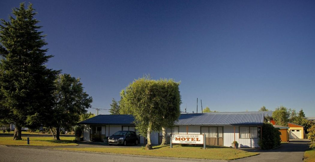 Front on view of Ohakune Court Motel