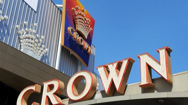 Crown Resorts sign