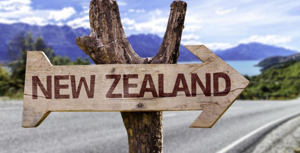 New Zealand signpost.