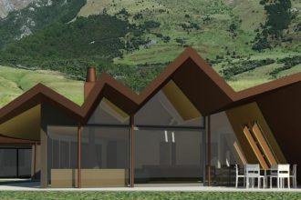 Artist's impression of Mount Isthmus luxury villa.