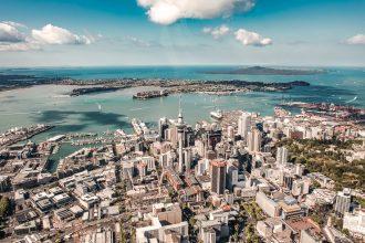 Wide shot of Auckland CBD.