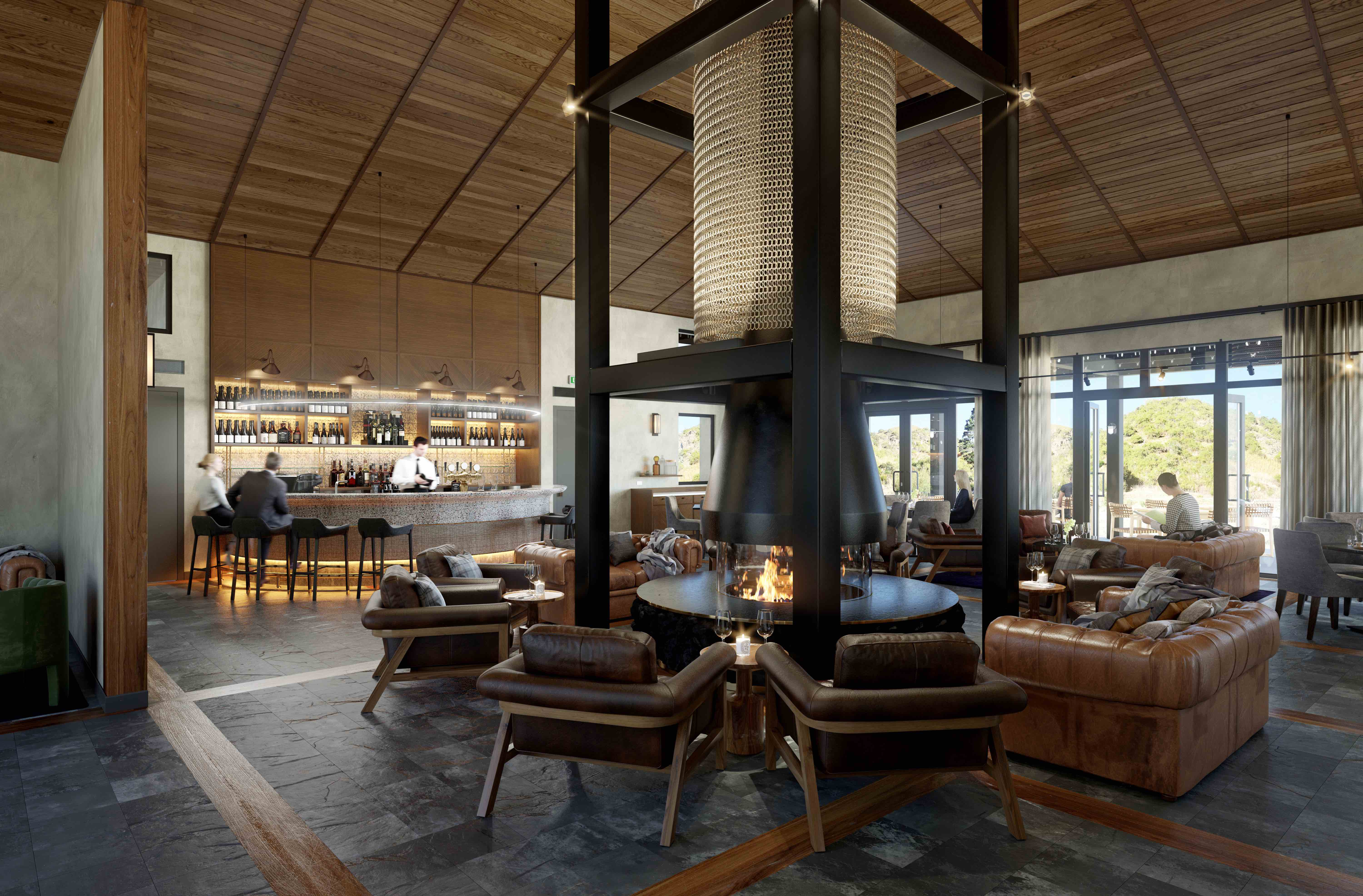 Gibbston Valley Lodge & Spa Render - Main Lodge Room