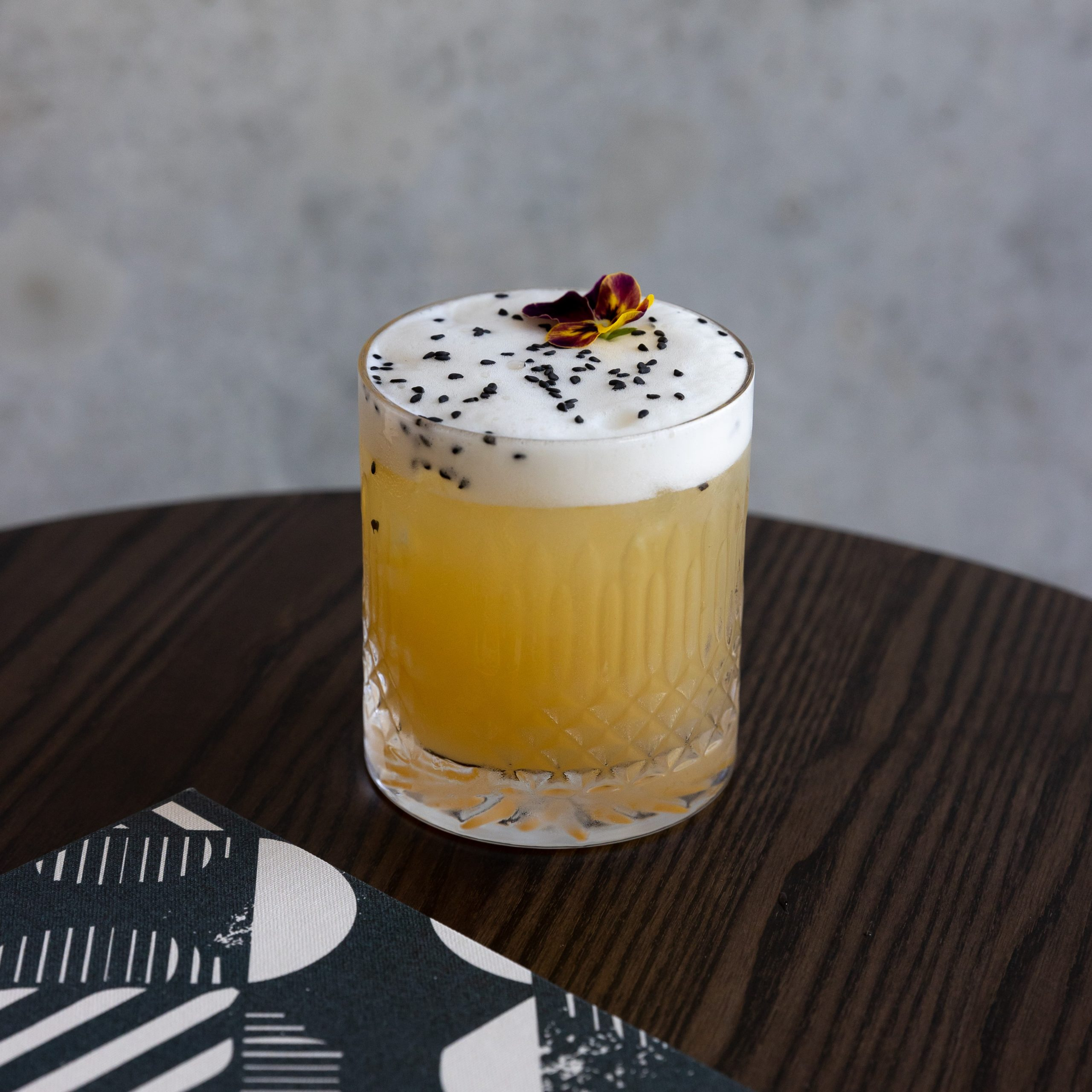 Cocktail Carousel - Shochu Sesame Sour