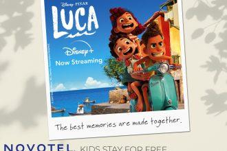 Disney Luca Poster with Novotel
