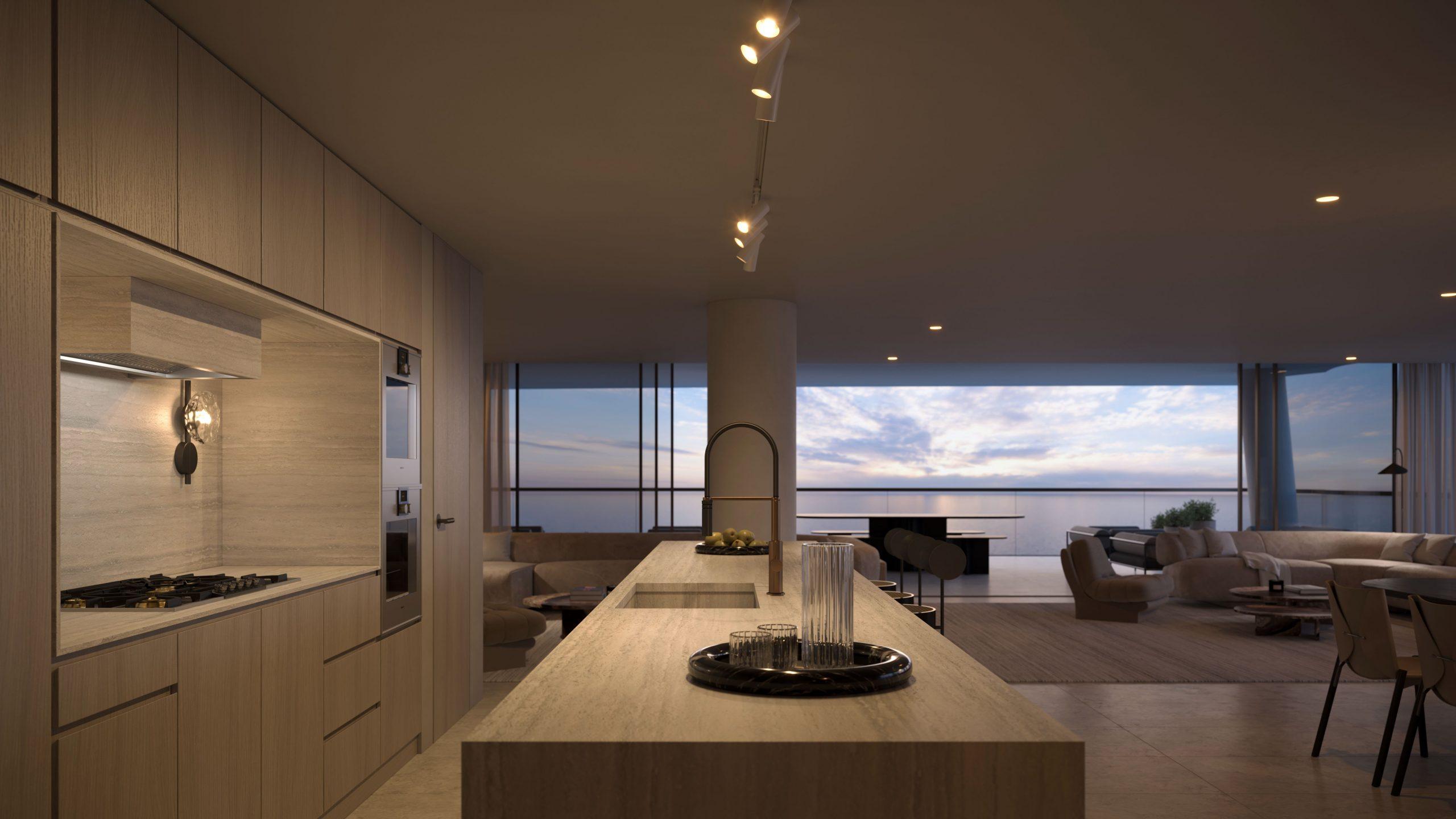 Artist impression - Mondrian Gold Coast Kitchen (2)