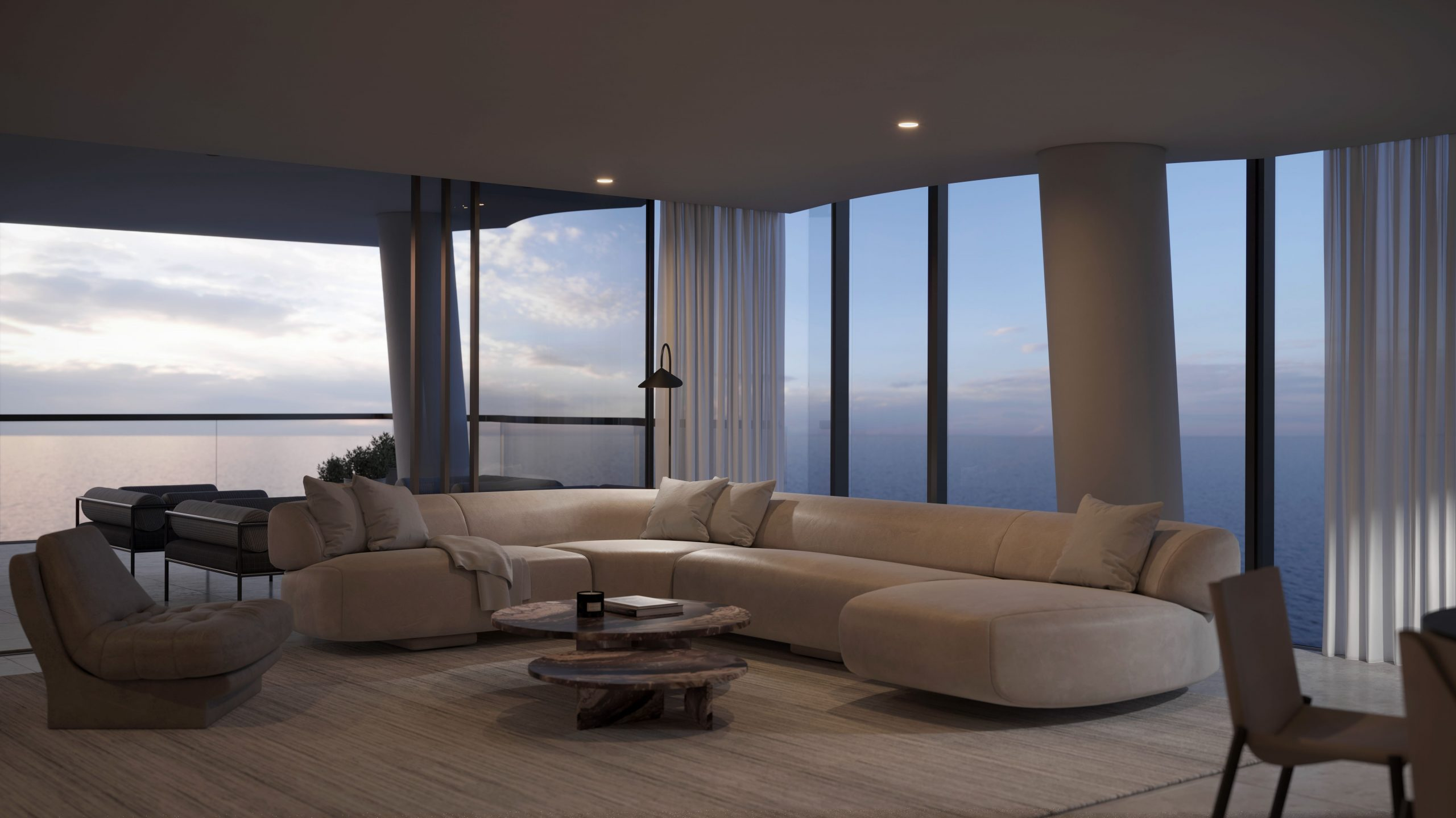 Artist impression - Mondrian Gold Coast Living Room