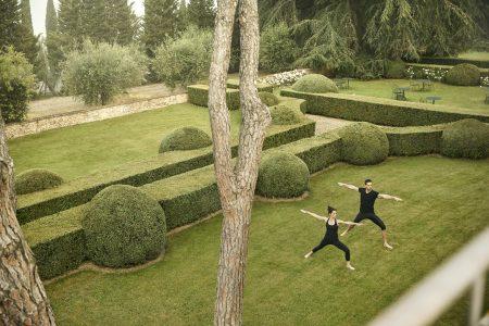 COMO Castello Del Nero_Yoga in Italian Gardens