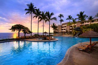 Outrigger Kona Resort and Spa - Sunset at Pool