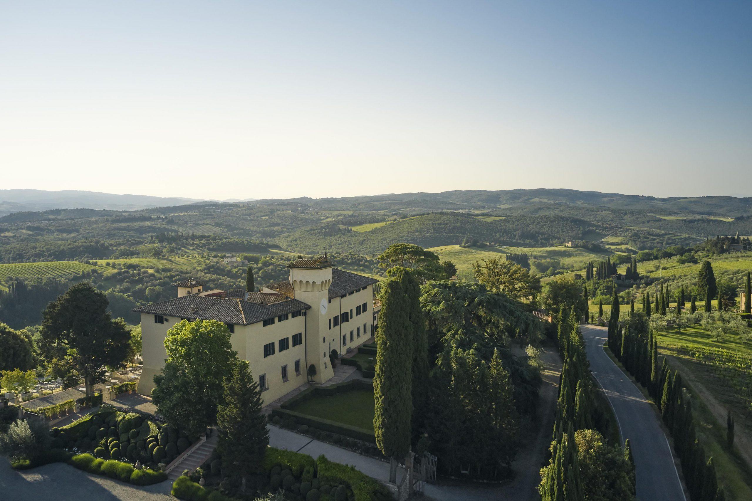 COMO Castello Del Nero_Castle & Landscape_Castle in Heart of Tuscan Landscape (Morning)